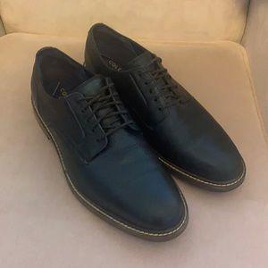 Cole Haan Black Pebbled Leather Oxfords Sz 10.5